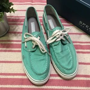 Sperry Top-Sider Biscayne Mint women's shoes 9.5